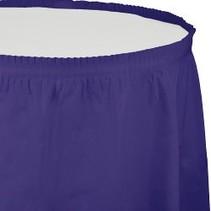 Table Skirt Plastic Purple