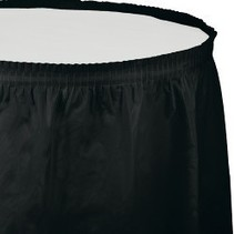 Table Skirt Plastic Black Velvet