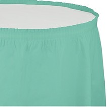 Table Skirt Plastic Fresh Mint