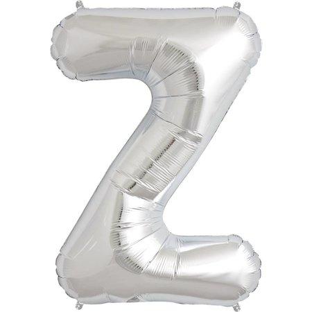 """34"""" Silver Foil Z Balloon"""