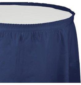 Table Skirt Plastic Navy