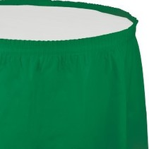 Table Skirt Plastic Emerald Green
