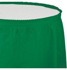 Table Skirt Plastic Emerald Green