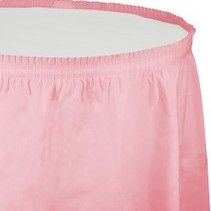 Table Skirt Plastic Classic Pink