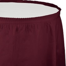 Table Skirt Plastic Burgundy