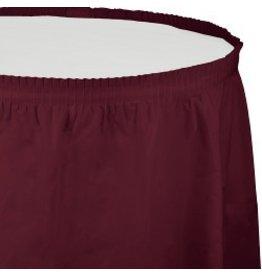 Table Skirt Plastic Burgundy
