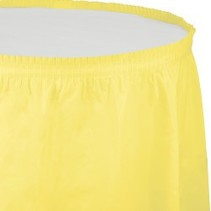Table Skirt Plastic Mimosa Yellow