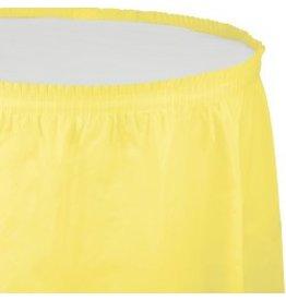 Table Skirt Plastic Mimosa Yellow