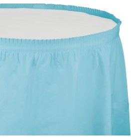 Table Skirt Plastic Pastel Blue