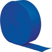 Crepe Paper Streamers 500' Cobalt