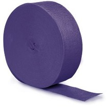 Crepe Paper Streamers 500' Purple