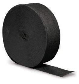 Crepe Paper Streamers 500' Black Velvet