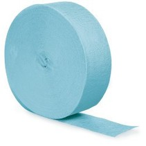 Crepe Paper Streamers 500' Pastel Blue