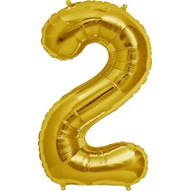 "34"" Gold Foil 2 Balloon"