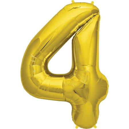 "34"" Gold Foil 4 Balloon"