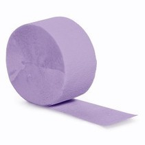 Crepe Paper Streamers 81' Luscious Lavender