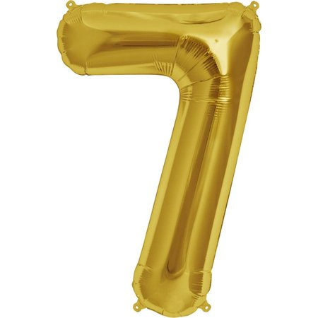 "34"" Gold Foil 7 Balloon"