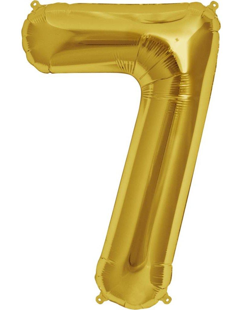 "34"" Gold Foil 7 Balloon"