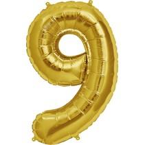 "34"" Gold Foil 9 Balloon"