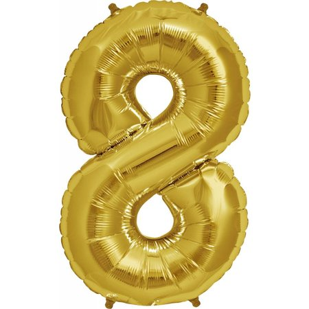 "34"" Gold Foil 8 Balloon"