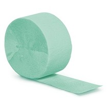 Crepe Paper Streamers 81' Fresh Mint