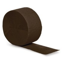 Crepe Paper Streamers 81' Chocolate Brown