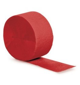 Crepe Paper Streamers 81' Classic Red