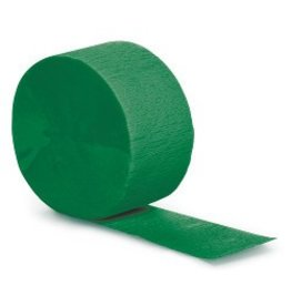 Crepe Paper Streamers 81' Green