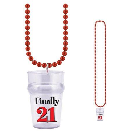 21st Birthday Glass Bead