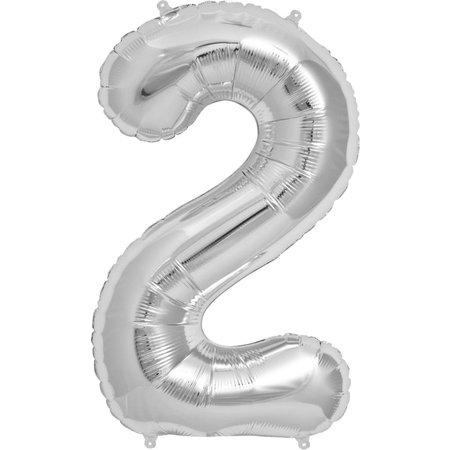 """34"""" Silver Foil 2 Balloon"""