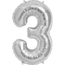 """34"""" Silver Foil 3 Balloon"""