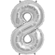 """34"""" Silver Foil 8 Balloon"""
