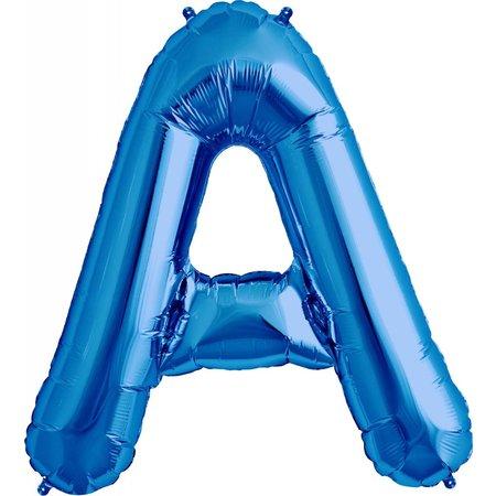 """34"""" Blue Foil A Balloon"""