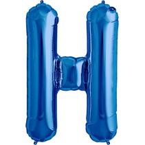 """34"""" Blue Foil H Balloon"""