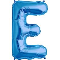"""34"""" Blue Foil E Balloon"""