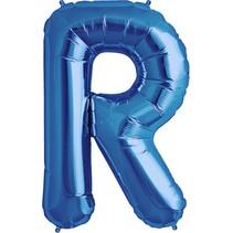 """34"""" Blue Foil R Balloon"""