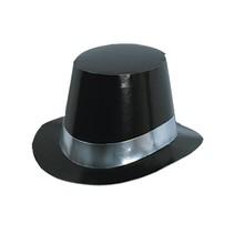 Black Foil Top Hat