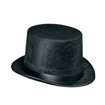 Black Vel- Felt Top Hat