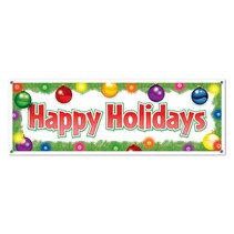 Happy Holidays Banner-5' x 21""