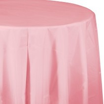 Round Table Cover Classic Pink