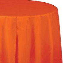 Round Table Cover Sunkissed Orange