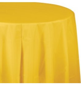 Round Table Cover School Bus Yellow