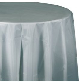 Round Table Cover Shimmering Silver