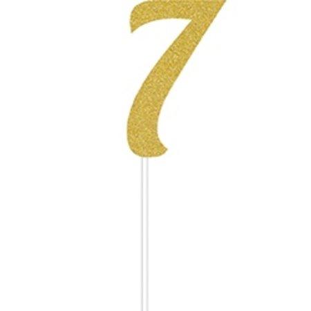 7 Gold Cake Topper
