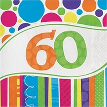 Bright & Bold 60 Luncheon Napkins
