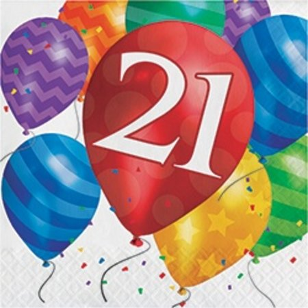 21 Balloons Luncheon Napkins