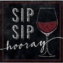 Beverage Napkins Sip Sip Hooray