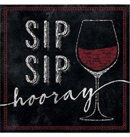 Beverage Napkins Sip Sip Hooray