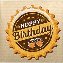 Beverage Napkins Hoppy Birthday