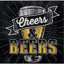 Beverage Napkins Cheers & Beers